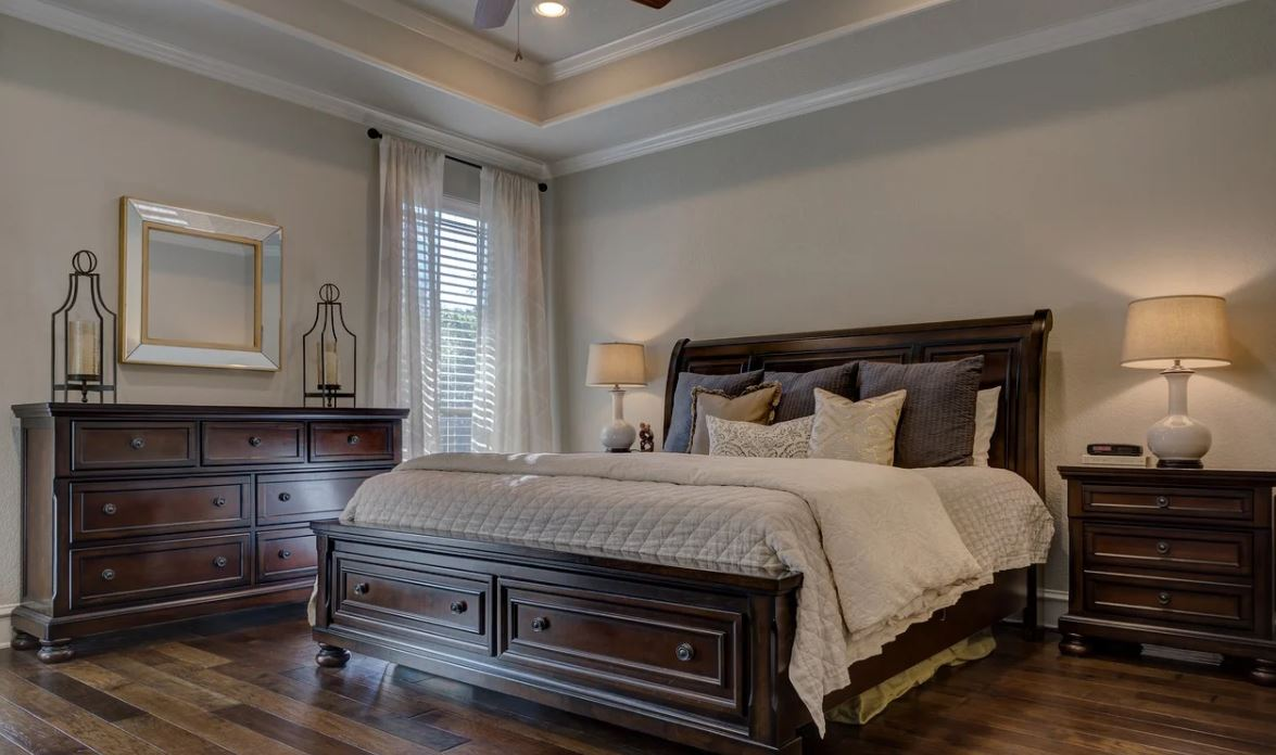 Painting company painting bedroom in Greensboro